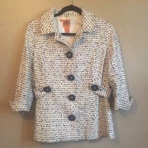 Tory Burch Wool Blend Button Jacket